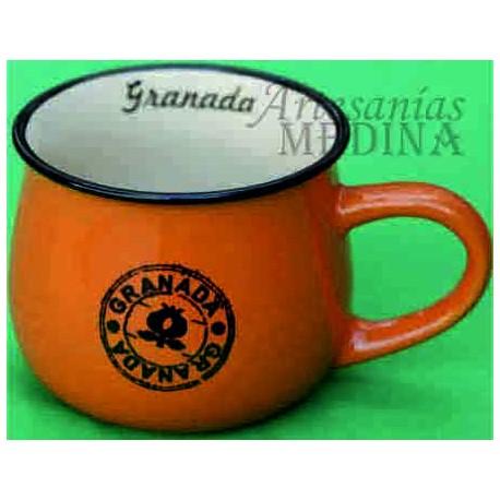Tazón vintage Granada de color naranja.